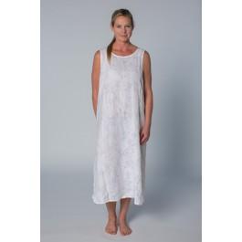 Basic Linen Nightie - Rose Pattern